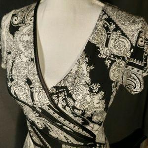 B/W paisley print dress
